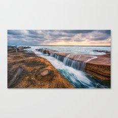 Ocean waves landscape Canvas Print