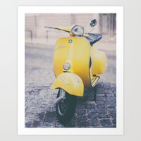 Make It Yellow Art Print
