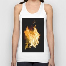 Face in the Flames Unisex Tank Top