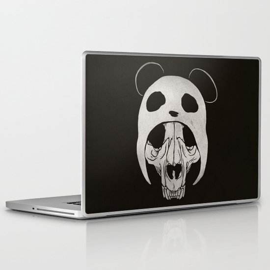 Panda Skull Laptop & iPad Skin