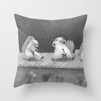 Hot Dam Throw Pillow