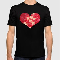 Be My Valentine Black SMALL Mens Fitted Tee