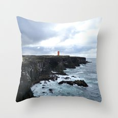 Lonely lighthouse Throw Pillow