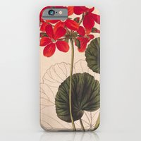iPhone & iPod Case featuring Vintage Geranium by Kokabella