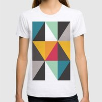 Triangles # 2 Womens Fitted Tee Ash Grey SMALL