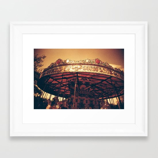 Redscale Carousel Framed Art Print