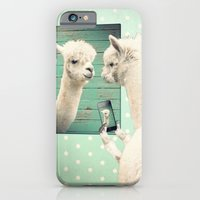 iPhone Cases featuring SELFIE by Monika Strigel