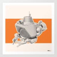 Exporers III - Submarine Art Print
