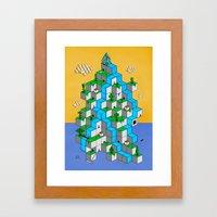 Ecubesystem Framed Art Print