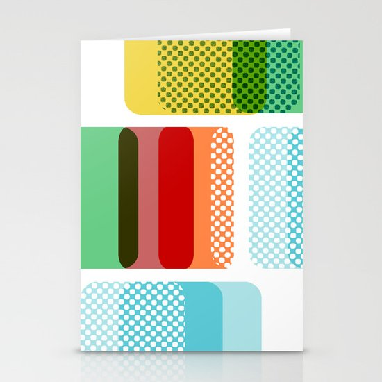 Layered Squares no.2 Stationery Card