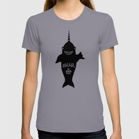 GNARWHAL Womens Fitted Tee Slate SMALL