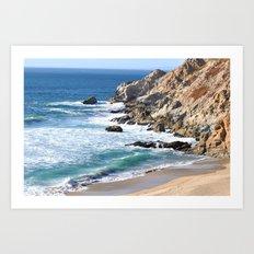CALIFORNIA COAST - BLUE OCEAN Art Print
