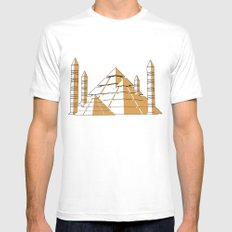 Pyramids Mens Fitted Tee SMALL White