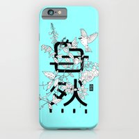 Shizen wrapped in nature_Blue iPhone 6 Slim Case