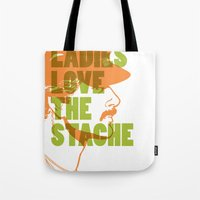 Ladies Love The Mustache Tote Bag