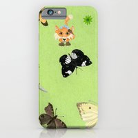 iPhone & iPod Case featuring Butterfly watching by Heather Bechler