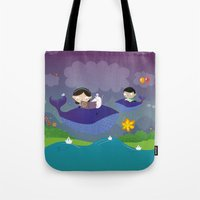 Story About Flying Whale… Tote Bag