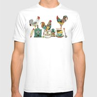 Roosters Majestic Mens Fitted Tee White SMALL