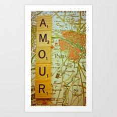 Love, Paris Art Print