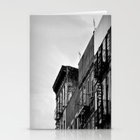 New York From Below Stationery Cards