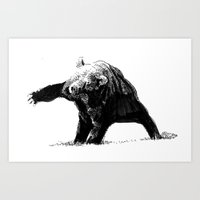 The Big Bad Bear By Chuc… Art Print