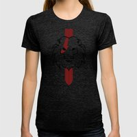 Monarch (Black & Red) Womens Fitted Tee Tri-Black SMALL