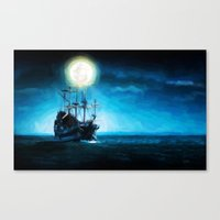 The Flying Dutchman Unde… Canvas Print