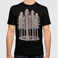 Coastal Redwoods Cathedr… Mens Fitted Tee Black SMALL