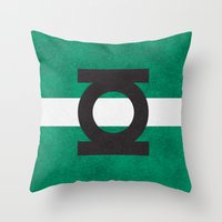Color Greens Throw Pillow