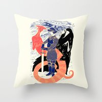 The Knight, Death, & the Devil Throw Pillow