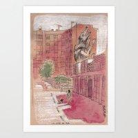 La louve de Roa - Rome, Nuovo mercato di Testaccio Art Print