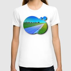 Small Country Road And A… Womens Fitted Tee White SMALL