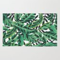 Tropical Glam Banana Leaf Print Rug