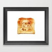 Stormtrooper Toast Framed Art Print