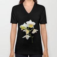 Beautiful White Orchid F… Unisex V-Neck