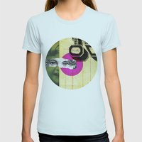 Play Hide And Seek With … Womens Fitted Tee Light Blue SMALL