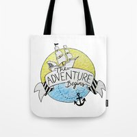 The Adventure Begins Tote Bag