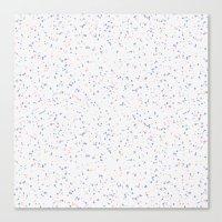 Speckles I: Rose Quartz & Serenity on Snow Canvas Print