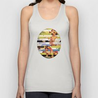 Glitch Pin-Up Redux: Far… Unisex Tank Top