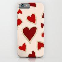 Ditsy Dark Hearts For Lo… iPhone 6 Slim Case