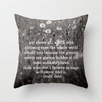 roald dahl's magic Throw Pillow