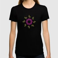Vegetable Medley Womens Fitted Tee Black SMALL