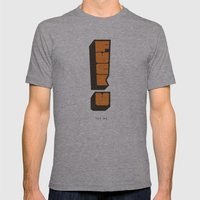FUPM Mens Fitted Tee Athletic Grey SMALL