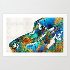 Colorful Dog Art - Lovin… Art Print
