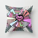 Power of LOVE...(retro pastel) Throw Pillow
