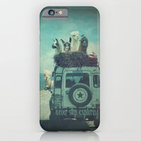 iPhone Cases featuring NEVER STOP EXPLORING II by Monika Strigel