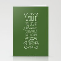 peter pan Stationery Cards featuring Peter Pan by Nikita Gill