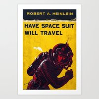 Space Suit Art Print