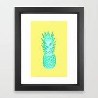 I Love Pineapples #2 Framed Art Print