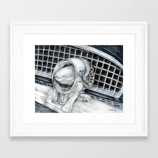 55 Thunderbird Classic Car Framed Art Print